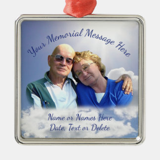 Photo Personalized Christmas in Heaven Ornament