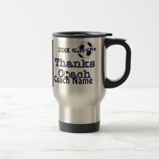 PHOTO Personalized Gift Ideas for Coaches  Soccer Travel Mug