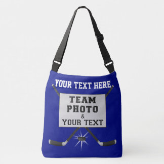 PHOTO Personalized Hockey Gifts for Coaches or Mom Crossbody Bag