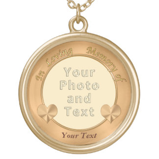 Photo Personalized In Loving Memory Necklace