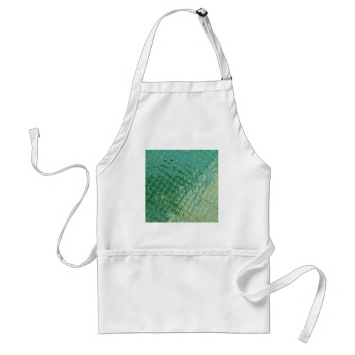 Photo picture of green plastic cover. aprons
