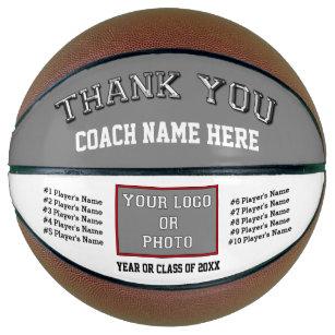 Photo, Player's Names Basketball Coach Gift Ideas