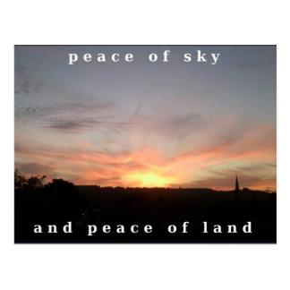 Photo Postcard 17 Sunset Burst Peace Wording