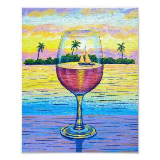 Photo Print,  A Glass of Wine, a World Away!