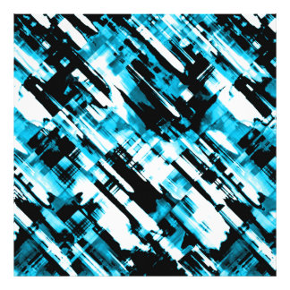 Photo Print Blue Black abstract digitalart G253
