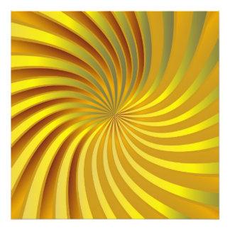 Photo print gold spiral vortex