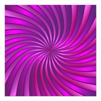 Photo print pink spiral vortex
