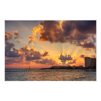 Photo Print - Sunrise in Cancun, Mexico