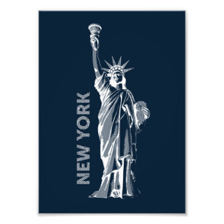 Photo printing. Liberty Statue of Liberty, the
