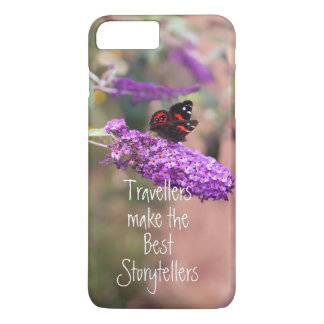 Photo Purple Black Butterfly iPhone 8 Plus/7 Plus Case