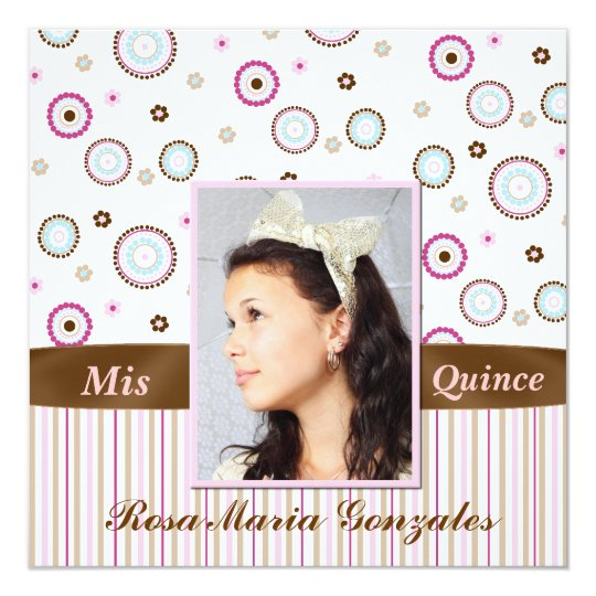 Photo Quinceañera Invitation