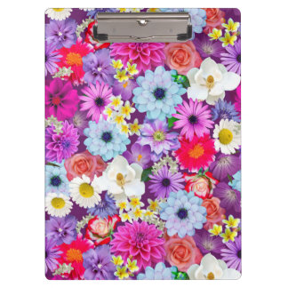 Photo real floral collage clip board clipboard