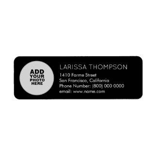photo return address label