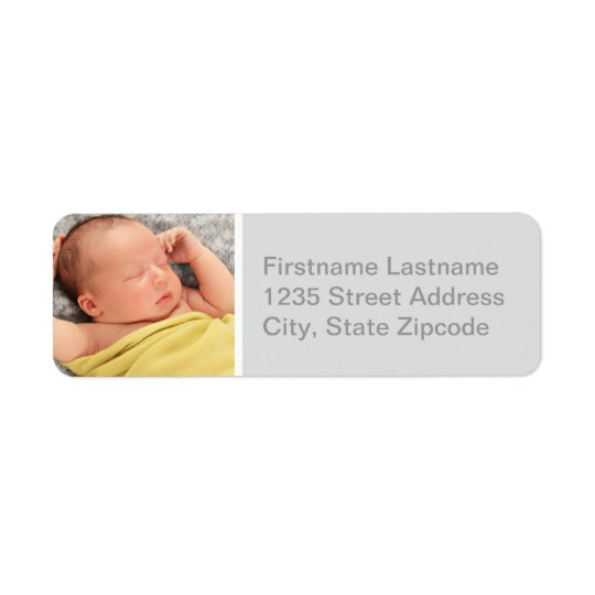 Photo Return Address Labels | Grey