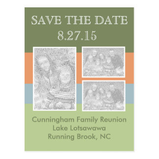 Photo Reunion Save the Date Postcard