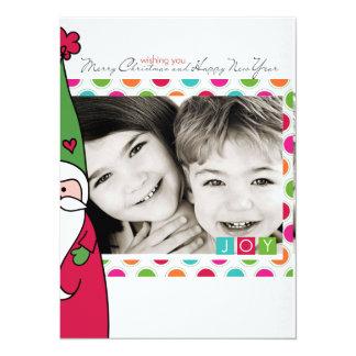 Photo santa Christmas Card 14 Cm X 19 Cm Invitation Card