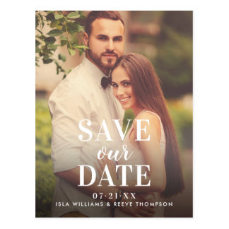 Photo Save Our Date | Timeless Type Postcard