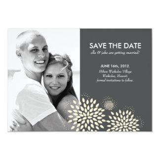 Photo Save the Date 2 // Posh Petals // Vanilla 13 Cm X 18 Cm Invitation Card