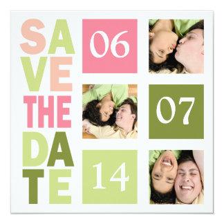 Photo Save The Date Cards 13 Cm X 13 Cm Square Invitation Card