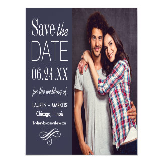 Photo Save the Date   Custom Color Magnetic Invitations