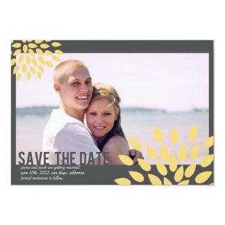 Photo Save the Date // Posh Petals // Sunshine 13 Cm X 18 Cm Invitation Card