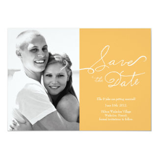 """Photo Save the Date // True Love Collection #02 5"""" X 7"""" Invitation Card"""