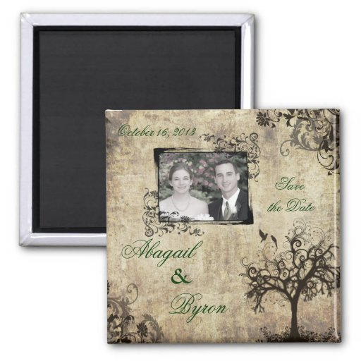 Photo Save the Date Wedding Magnet