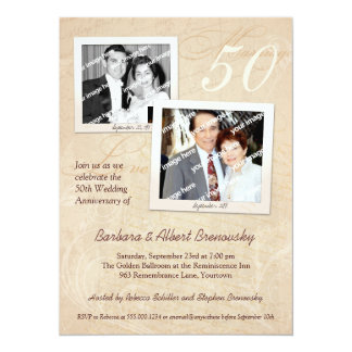 Photo Scrapbook Anniversary Party Invitation