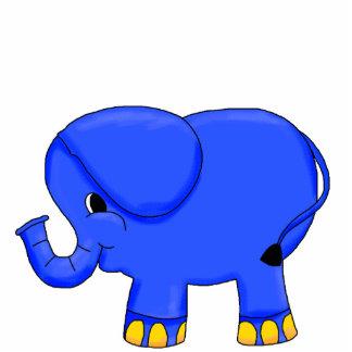 Photo Sculpture Blue Elephant