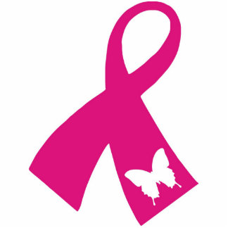 Photo Sculpture: Pink Ribbon Sculpture Standing Photo Sculpture
