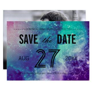Photo Smokey Galaxy Save the Date Card