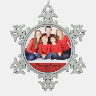 Photo Snowflake Year Christmas Ornament Customize