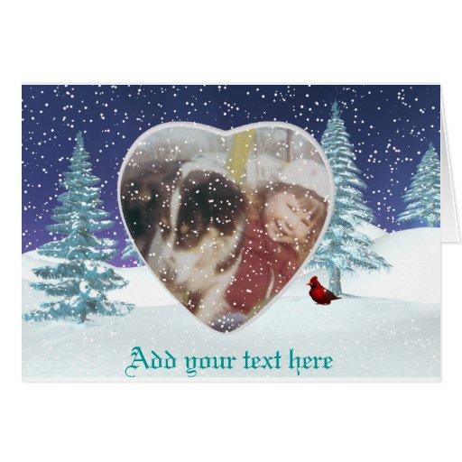 Photo Snowy wonderland card