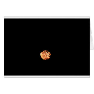 PHOTO TAKEN OF FULL MOON & TREES WITH ART EFFECT GREETING CARD