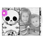 Photo Template Birthday Invitations **Pink Skull Cards