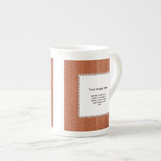 Photo Template - Orange Knit Stockinette Stitch Porcelain Mug