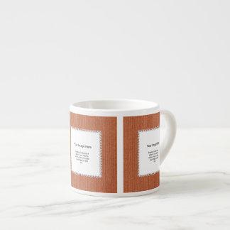 Photo Template - Orange Knit Stockinette Stitch Espresso Cups