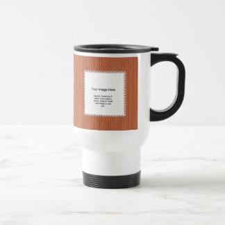Photo Template - Orange Knit Stockinette Stitch Stainless Steel Travel Mug