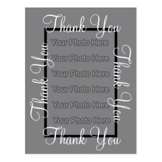Photo Template Thank You Wedding Postcard