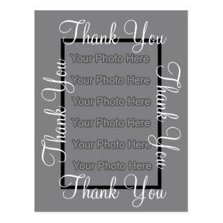 Photo Template Thank You Wedding Postcard