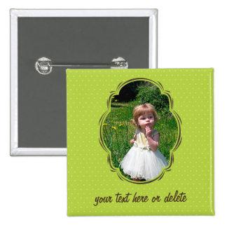 Photo template with polkadot pin