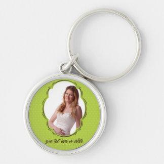 Photo template with polkadot key chain
