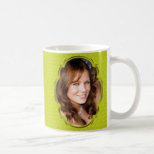 Photo template with polkadot coffee mug