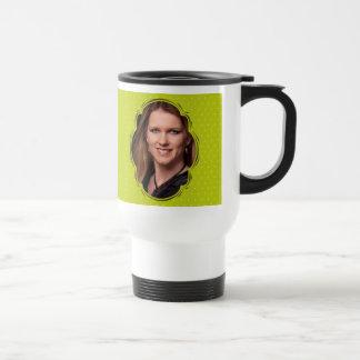 Photo template with polkadot mug