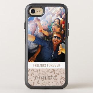 Photo & Text Beige pattern OtterBox Symmetry iPhone 7 Case