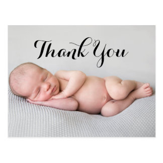 Photo Thank You Baby Birth Announcement Postcard