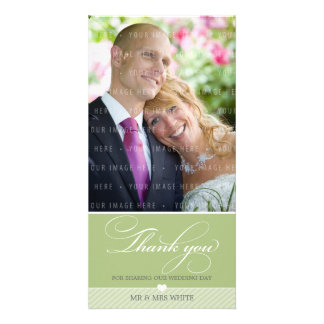 PHOTO THANK YOU :: lovely type 3 Personalised Photo Card