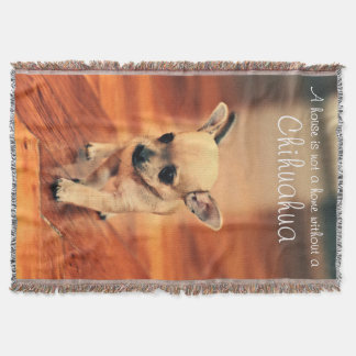 Photo Throw Blankets With Chihuahua