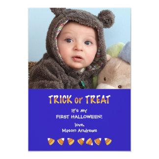 Photo Treat Halloween Card 13 Cm X 18 Cm Invitation Card