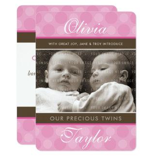 PHOTO TWINS BIRTH ANNOUNCEMENT cute baby girls
